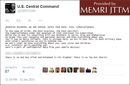Pro-ISIS 'CyberCaliphate' Hacks CENTCOM Twitter, YouTube Accounts