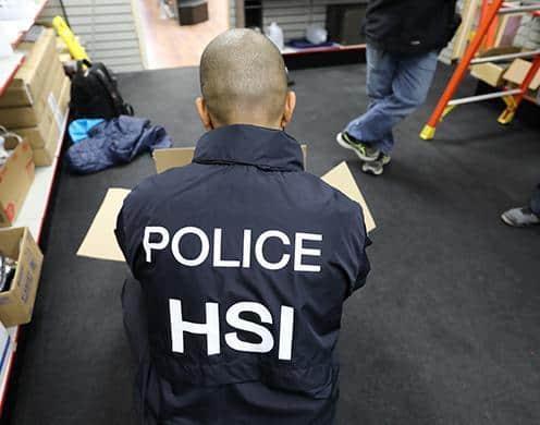 ICE team seize counterfeit sports merchandise