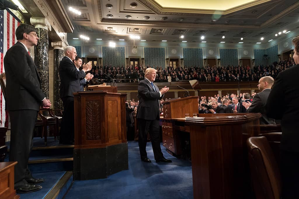 trump state of the union speech before congress