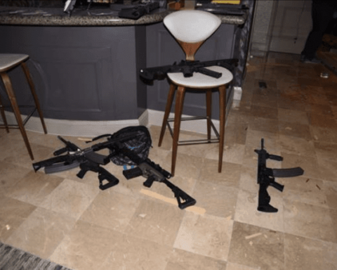 A few of the guns Stephen Paddock used in Las Vegas shooting.
