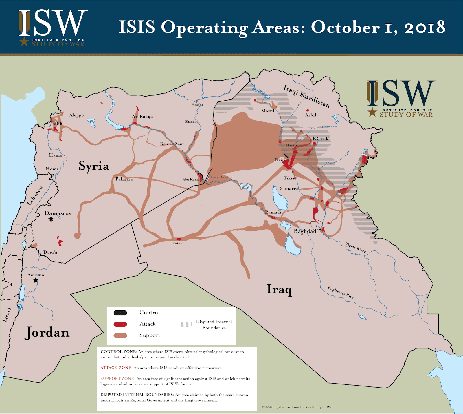 MAP: The Second Resurgence of ISIS in Syria and Iraq ...
