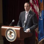 Deputy Attorney General Rod Rosenstein speaks