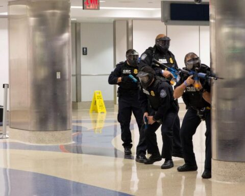 LAX active shooter drill