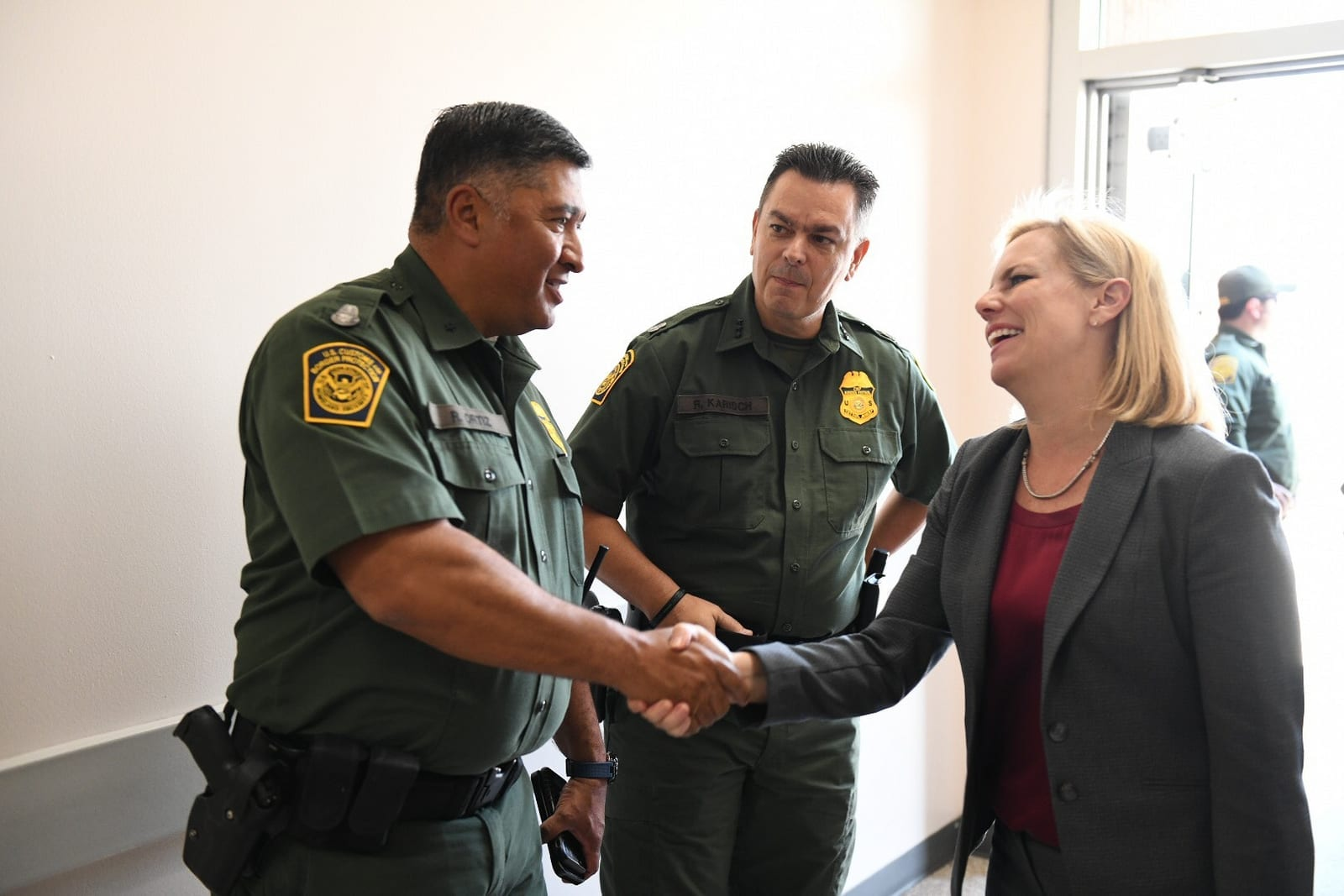 Kirstjen Nielsen visits the U.S. Border Patrol McAllen Station