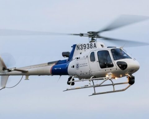 U.S. Customs and Border Protection AS350 helicopter