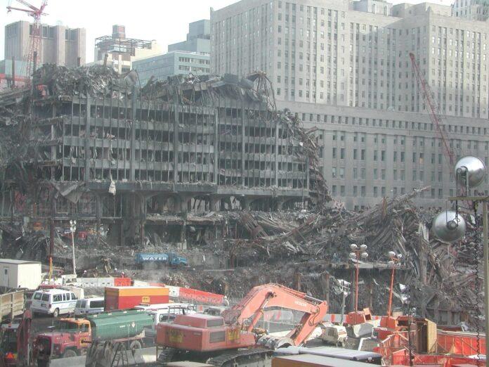 Ground Zero following the 9/11 attacks