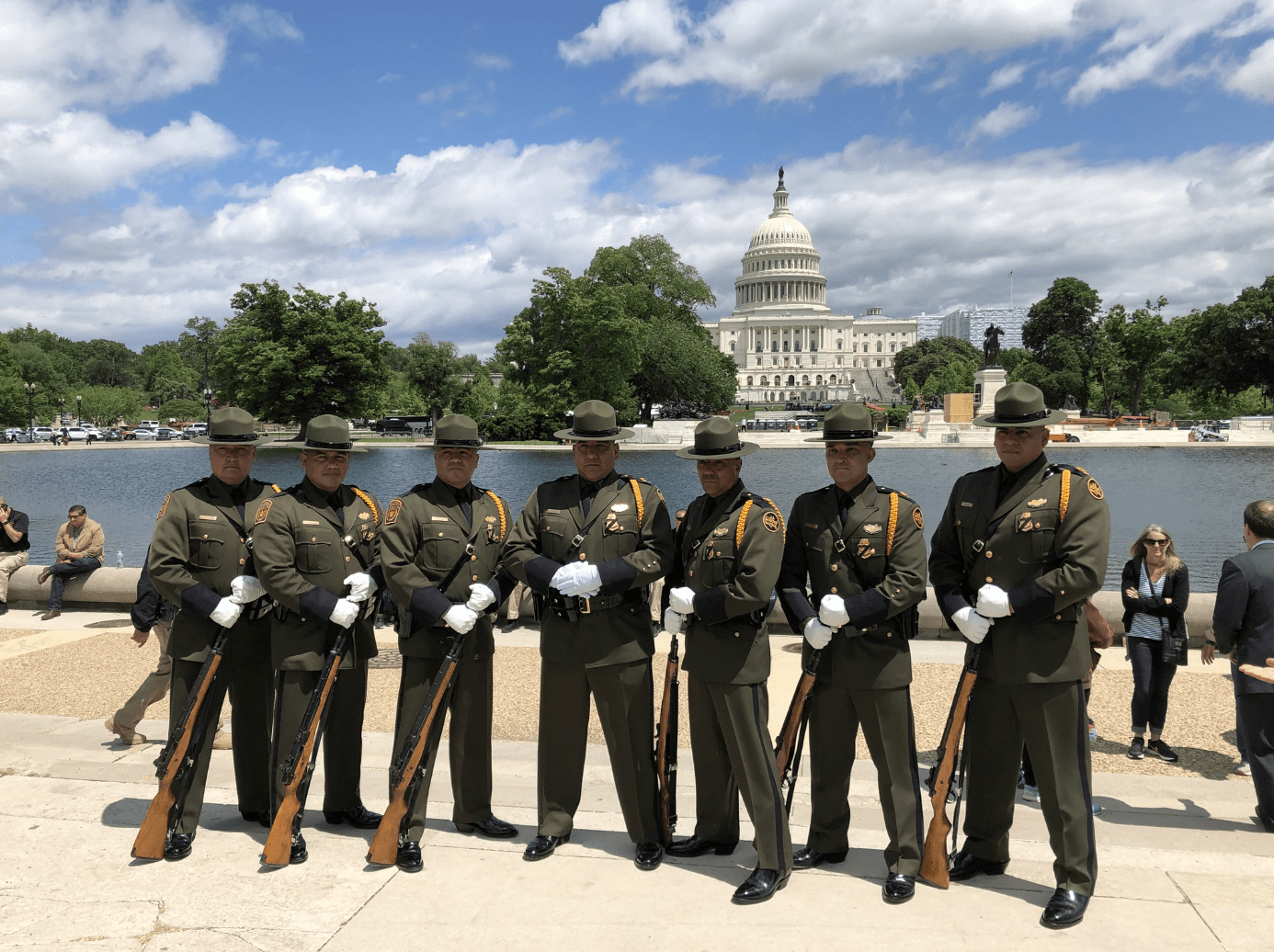 Border Patrol Sweeps Police Week Honor Guard, Pipe Band