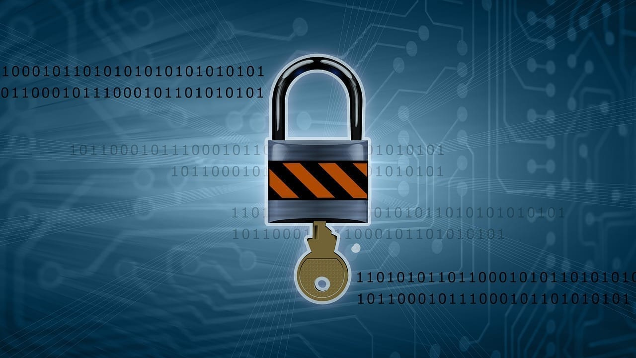 cybersecurity lock and key
