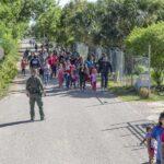 migrant families los ebanos