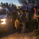 migrants near Los Ebanos, Texas