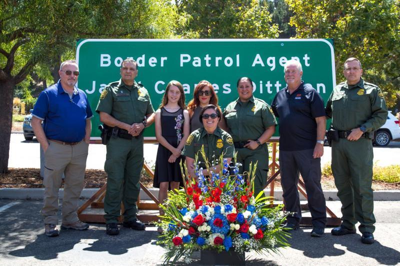 Border Patrol Celebrates Highway Sign Dedication for Fallen